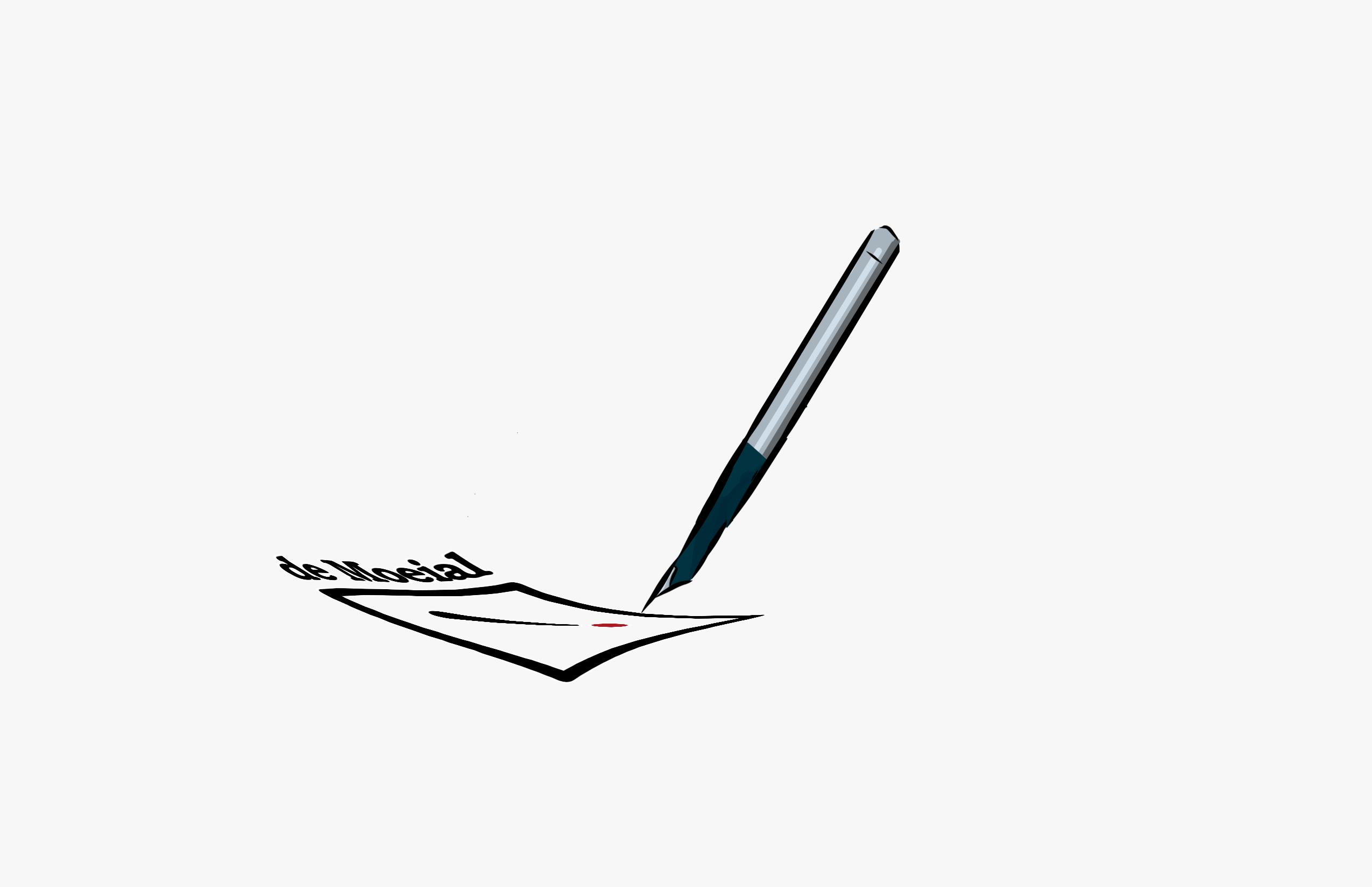 pen met papier